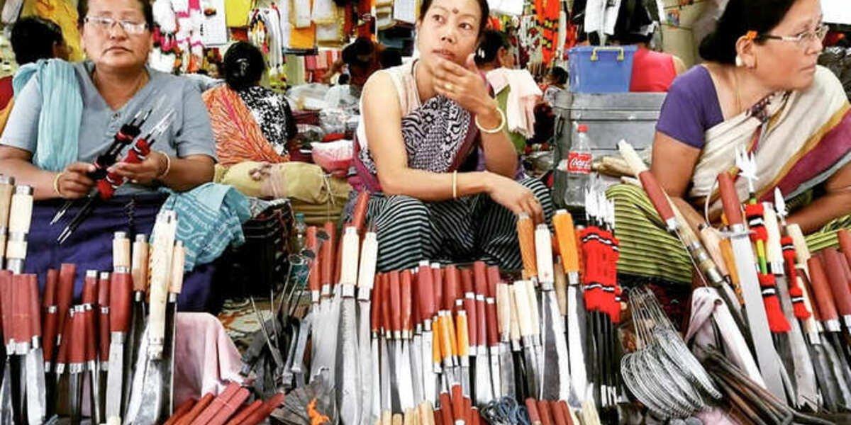 Women's market in Manipur